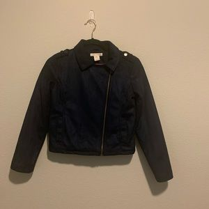 Joe Fresh girls coat size XL 14 Dark Blue
